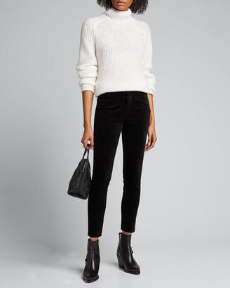L'Agence Margot Velvet High-Rise Skinny Ankle Jeans