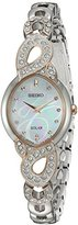 Seiko Women's Japanese Quartz Stainless Steel Watch, Color:Two Tone (Model: SUP340)