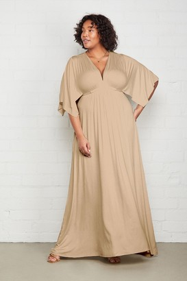 White Label Long Caftan Dress - Plus Size