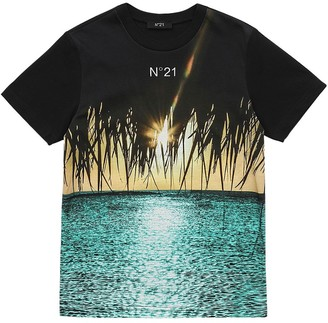 N°21 Printed Cotton Jersey T-shirt