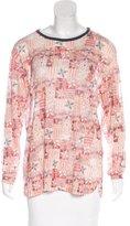 Etoile Isabel Marant Printed Linen Top