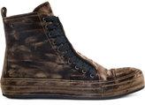 Ann Demeulemeester velvet hi-top sneakers - men - Velvet/rubber - 41