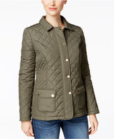 Charter Club Petite Quilted Water-Resistant Coat, Only at Macy's