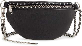 Steve Madden Studded Faux Leather Convertible Belt Bag