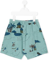 Bobo Choses Gombe hut print shorts