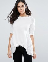 French Connection Scallop Knit Blouse