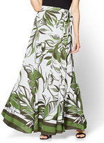 New York & Co. Maxi Skirt - Abstract Floral Print - Green