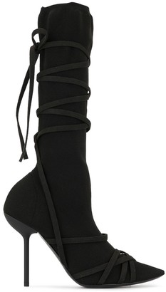 Unravel Project strappy knee-high boots