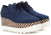 Stella McCartney Elyse denim platform derby shoes
