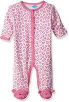 Bon Bebe Baby Girls' 1 Pc Footed Coverall with Fold Back Mitten Covers