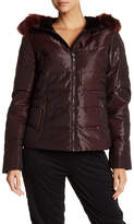 Obermeyer Reflective Faux Fur Hooded Down Jacket