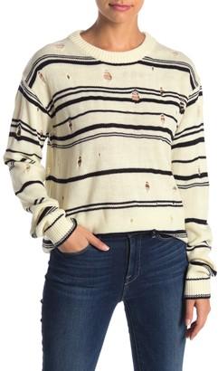 Heartloom Dora Distressed Stripe Print Sweater