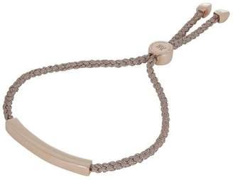 Monica Vinader Rose Gold Vermeil Linear Cord Friendship Bracelet