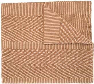 Voz Chevron Pattern Knitted Shawl