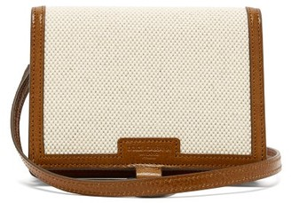 Dolce & Gabbana Leather-trimmed Cardholder - Beige