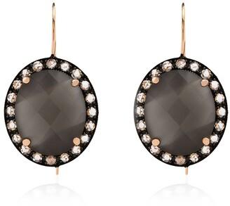 Andrea Fohrman 18K rose gold moonstone and diamond earrings