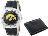 "Game Time Men's COL-WWS-IA ""Watch & Wallet"" Watch - Iowa"