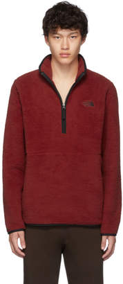 The North Face Red Sherpa Dunraven 1/4 Sweatshirt