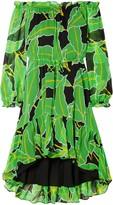 Diane von Furstenberg Camilla Off-the-shoulder Printed Silk-chiffon Dress