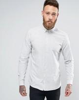 Minimum Teo Slim Buttondown Shirt Melange Slub In Slim Fit