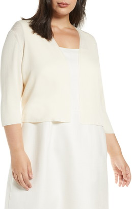 Lafayette 148 New York Open Front Crop Cardigan