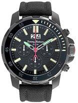 Tommy Bahama Men's 10018297 Big Island Diver Chronograph Analog Display Japanese Quartz Black Watch