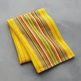 Crate & Barrel Salsa Dos Yellow Dish Towel