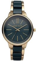 Anne Klein Women's Quartz Metal and Resin Dress Watch, Color:Blue (Model: AK/1412BLGB)