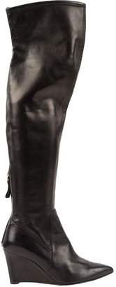 Sergio Rossi Black Leather Boots