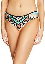 Seafolly Women's Skort Aztec Bikini Bottoms - Orange - 8