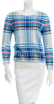 Equipment Patterned Crew Neck Sweater