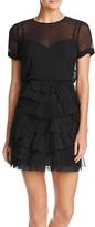 BCBGMAXAZRIA Ruffle Skirt Dress