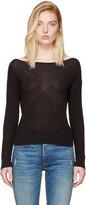Rag & Bone Black Gretchen Single-shoulder Pullover
