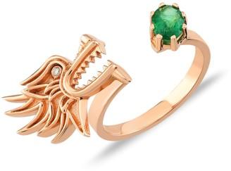Selda Jewellery Dragon Lady Ring Emerald
