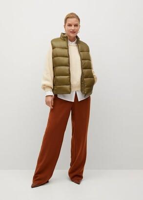 MANGO Quilted zipper gilet