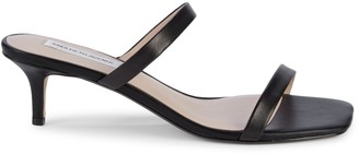 Saks Fifth Avenue Natalia Leather Heeled Sandals