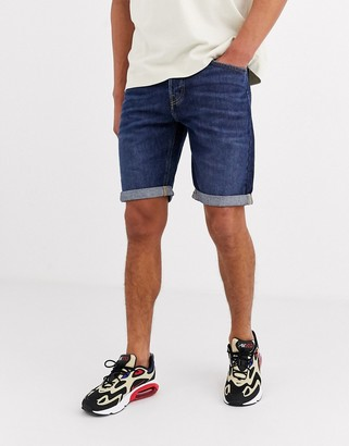Lee Jeans shorts 5 pocket denim short in mid blue wash