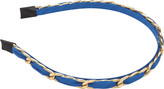 Karina Blue with Gold Chain Headband