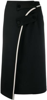 Ssheena Asymmetrical Midi Skirt