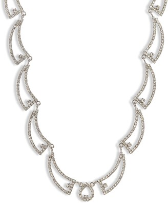 CRISTABELLE Open Swag Crystal Necklace