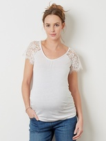 Vertbaudet Maternity T-shirt With Lace Sleeves