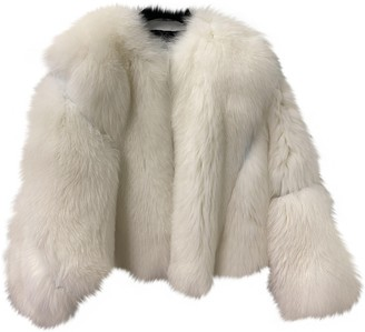 ATTICO White Fox Jacket for Women