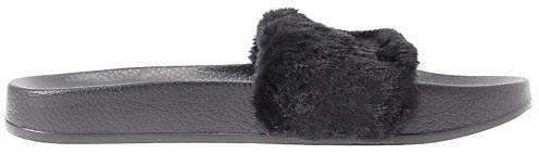 on sale 425a9 f2d90 Fur Slide Fur Slide Black (W)