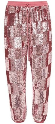 retrofete Stacia Cropped Sequined Chiffon Tapered Pants