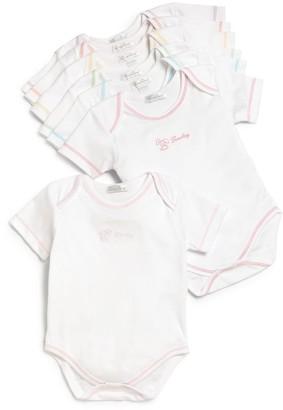 Kissy Kissy Baby Girl's Day of the Week Seven-Piece Bodysuit Set