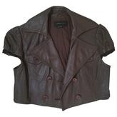 BCBGMAXAZRIA Leather short vest