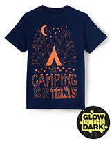 Lands' End Kids Husky Plus Graphic Tee-Camping Is In Tents