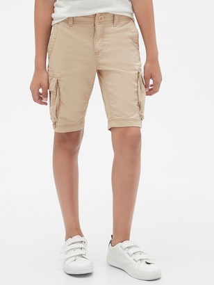 Gap Kids Fixed Waist Cargo Shorts with Stretch