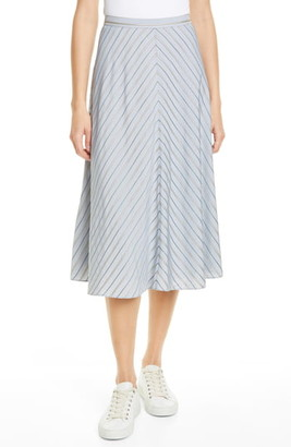Lewit Chevron Midi Skirt