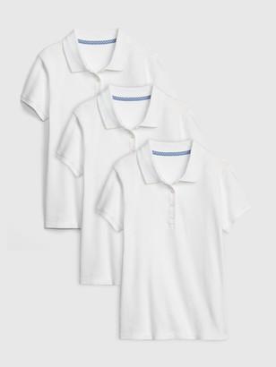 Gap Kids Uniform Stretch Short Sleeve Polo Shirt Shirt (3-Pack)